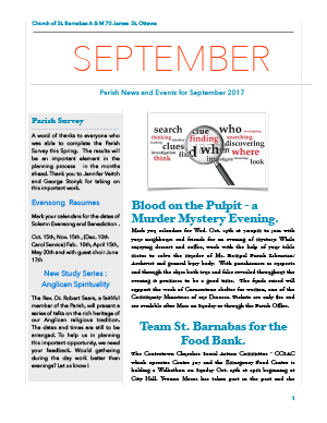 Cover of September newsletter