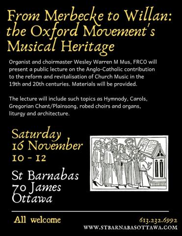 Poster for music lecture (details in event description)