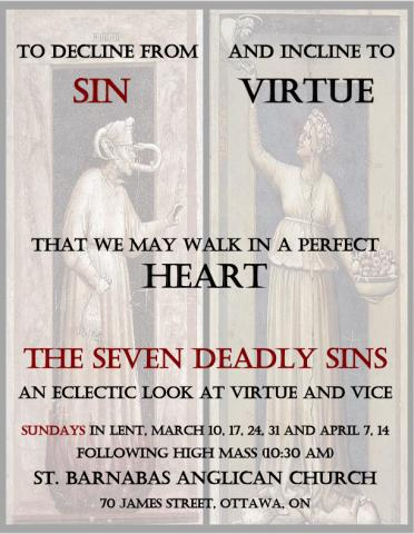 Poster for Virtue and Vice lecture series. Details in event description.