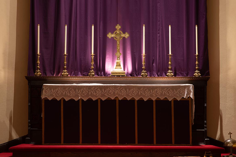 Altar on Ash Wednesday