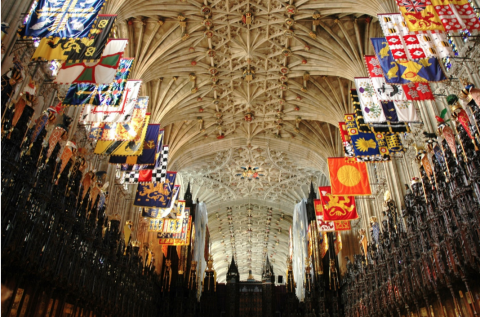 Photo of the interior of St. George's Chapel, Windsor Castle.