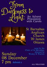 Poster image for Advent Carol Service (all details in event description)