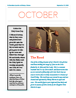 Cover of October newsletter